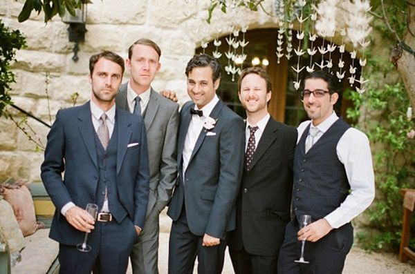 grey groomsmen outfits