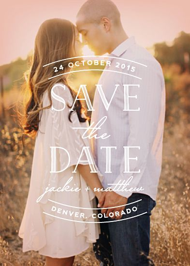 save the date wedding invitation of couple facing each other holding hands
