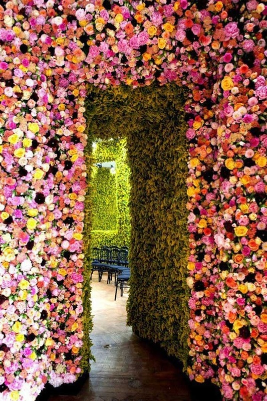 wedding flower arbor