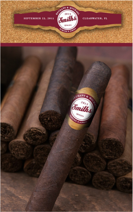 CIGARS WITH CUSTOM LABEL