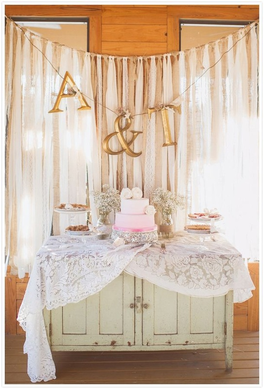 monogram lettters and streamers
