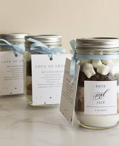 mason jars for wedding favors