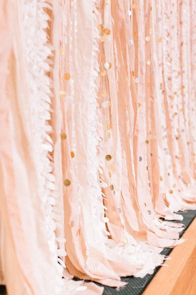 pink and blush wedding steamers