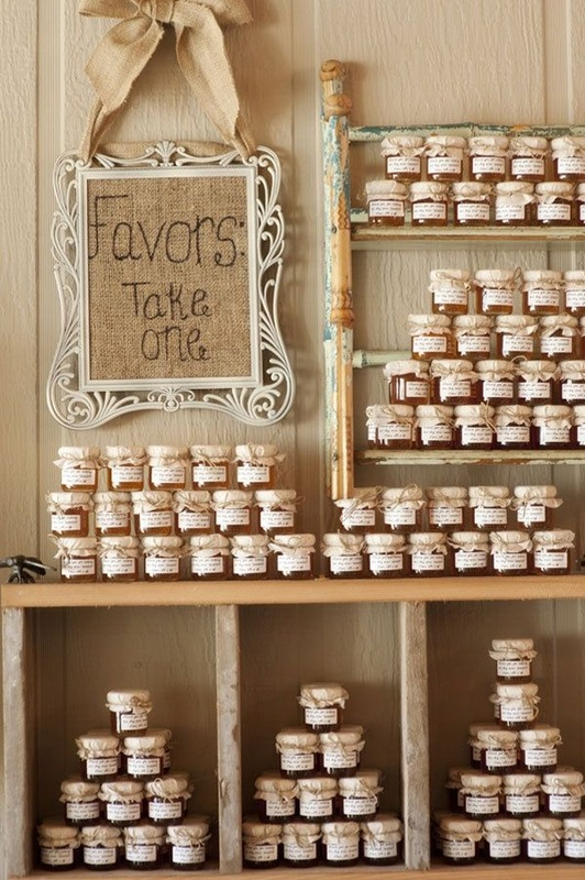 wedding jars of jam