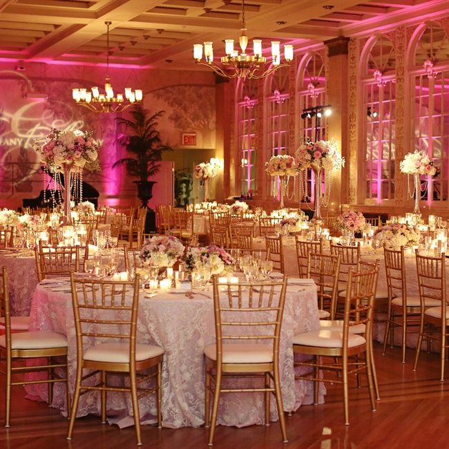 wedding pink up lighting
