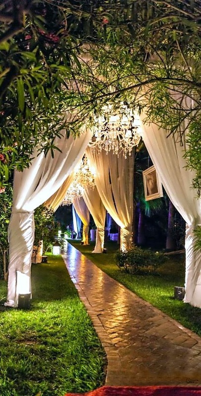 wedding outdoor uplighting
