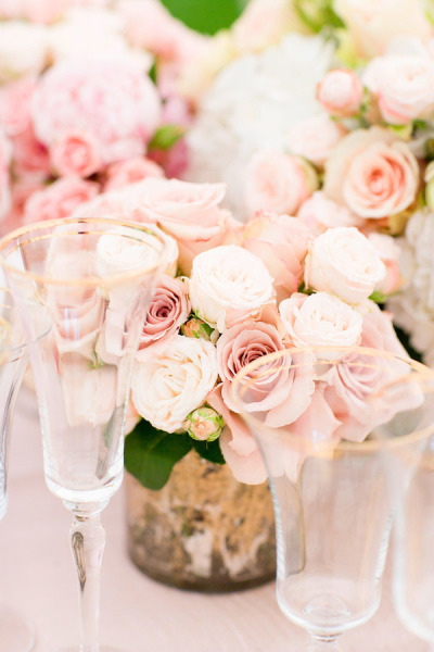 blush wedding bouquets