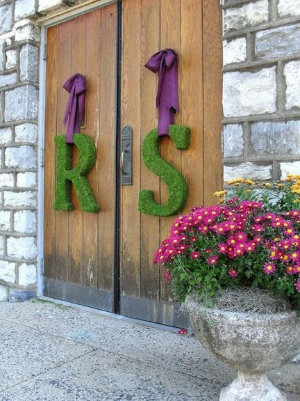 hanging wedding hedge letters