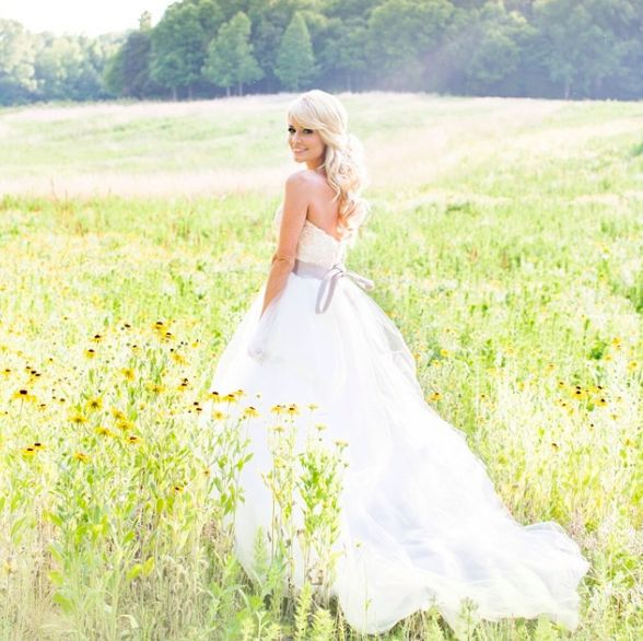 emily maynard in wedding dress