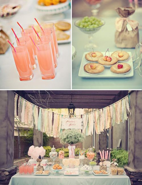 tassel streamers and dessert table