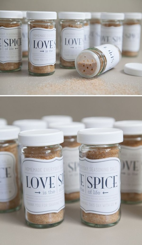 love spice for wedding favors