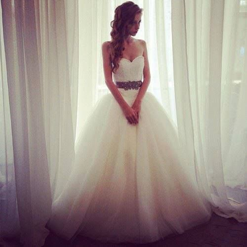 bride in ballgown wedding dress