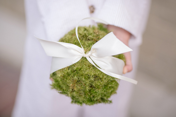 decrative moss ball at a wedding