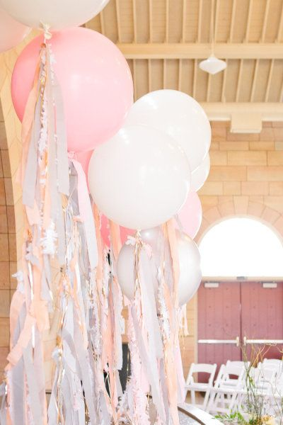 large balloon  wedding balloons with tasels
