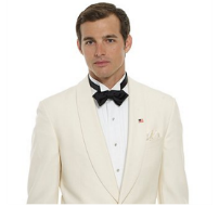 men's white dinner jacket