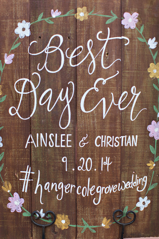 Best Day Ever sign: custom wedding sign