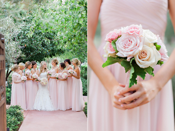 Blush Pink Wedding Dresses And Bride