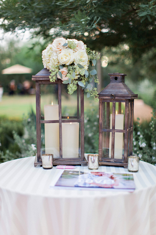 wedding guest book table with flowers