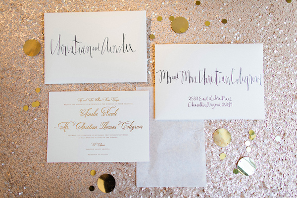 christian louboutin font wedding invitations