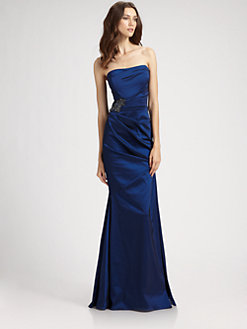 David Meister blue gown