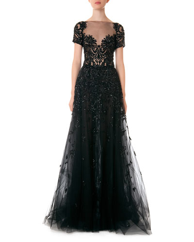 formal black gown