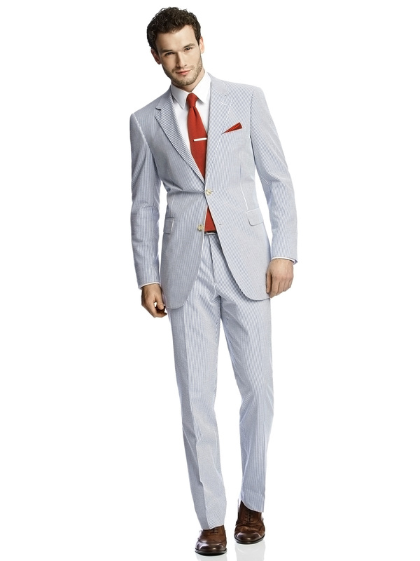 Seersucker men's suit