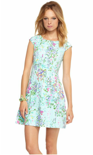 blue floral Lilly Pulitzer dress
