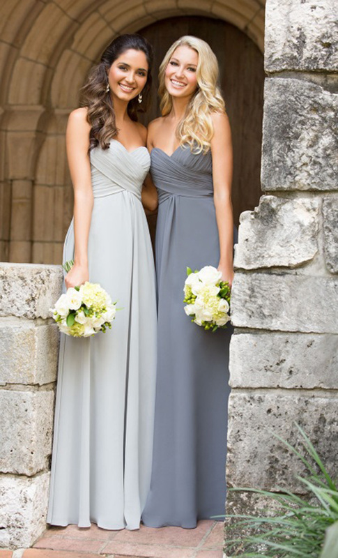 light grey bridesmaid dresses