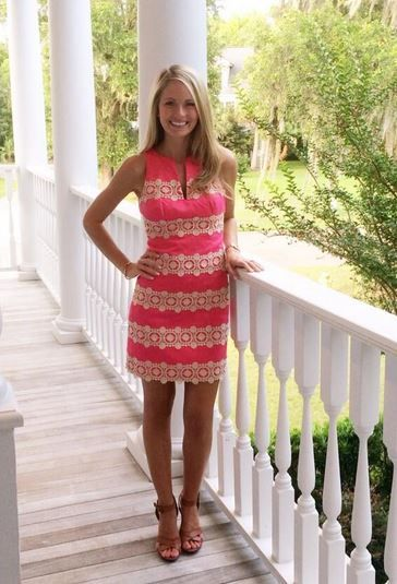 Cameran Eubanks in pink Lilly Pulitzer dress