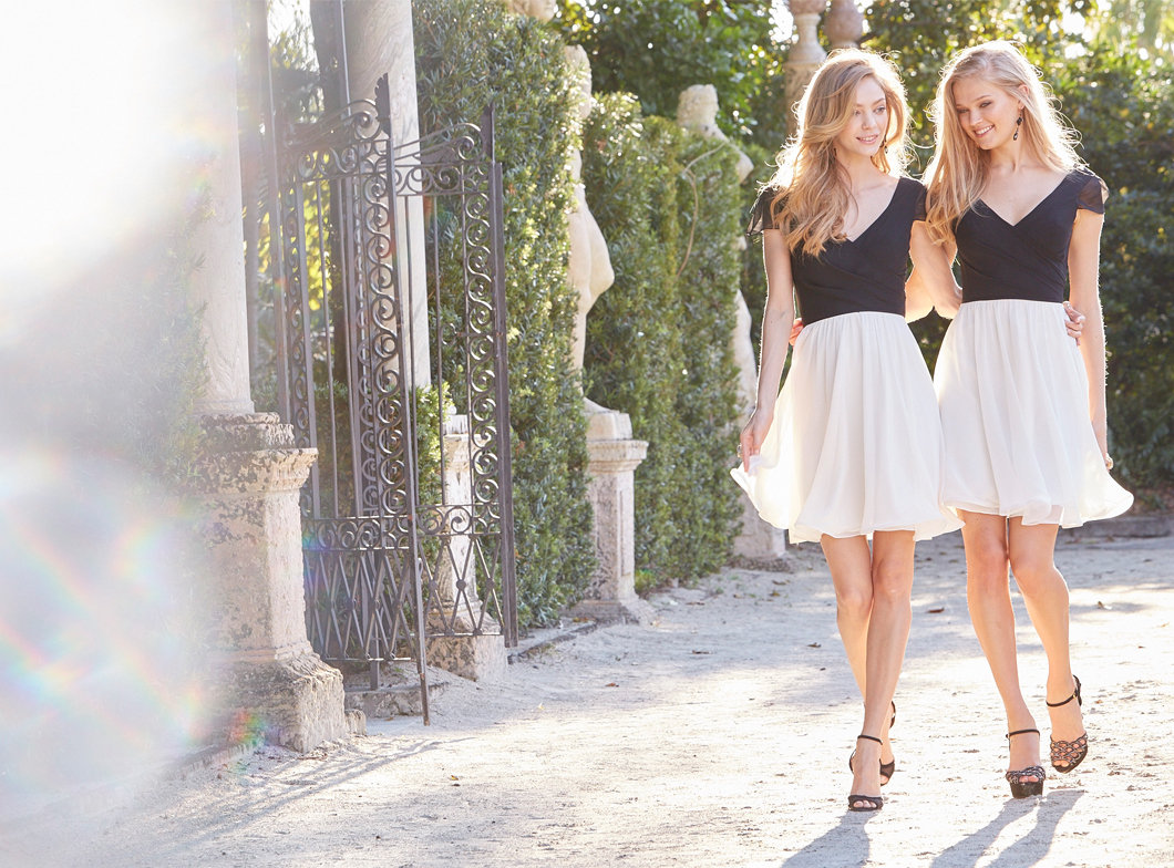 Occasions latest collection it girl weddings black and white bridesmaid dresses ombrellifo Gallery