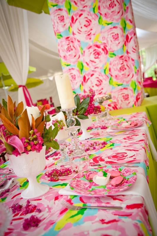 iconic Lilly Pulitzer wedding linens