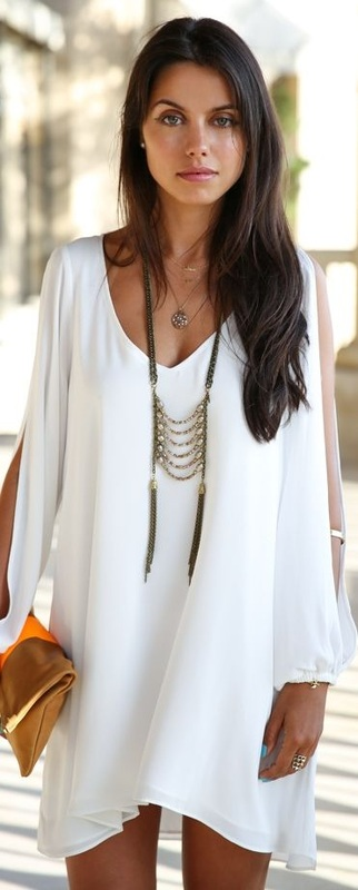 short white resort dress