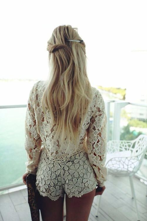 white lace short romper