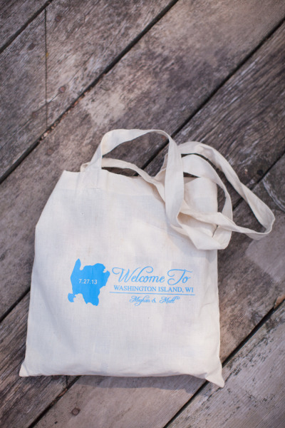 custom welcome bag filled with goodies for the bridesmaids