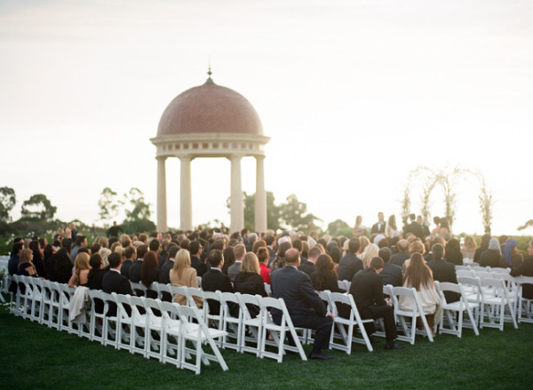 pelican hill resort outdoor wedding ceremony in session