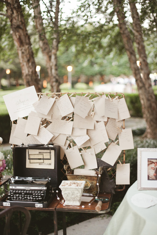 typewriter outside fr guests to write notes