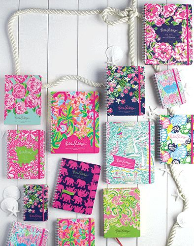 Lilly Pulitzer agendas, notebooks and planners