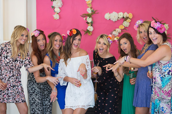 DESIREE HARTSTOCK FLOWER CROWN BRIDAL SHOWER