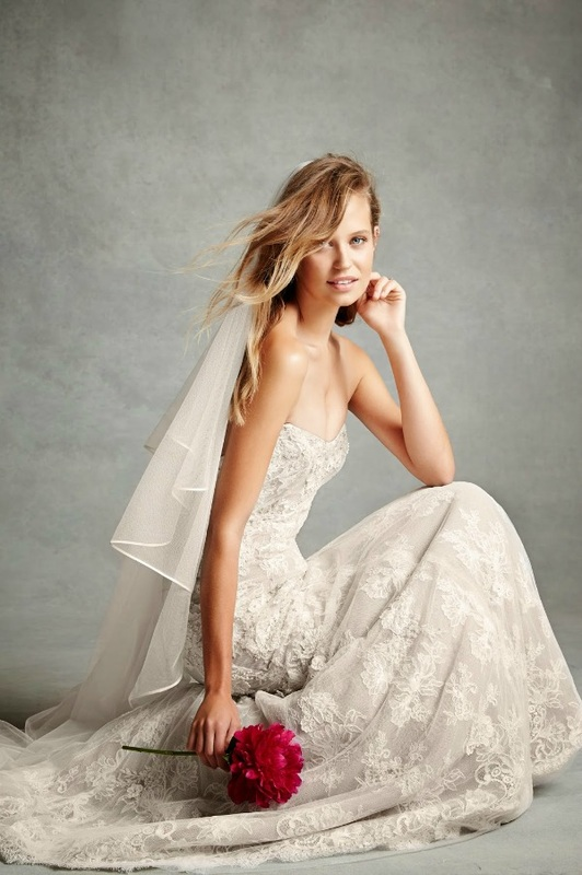 Monique Lhuillier wedding dress with gorgeous lace detail