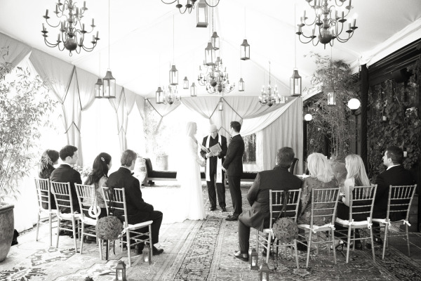 bride and groom during wedding elopement ceremony