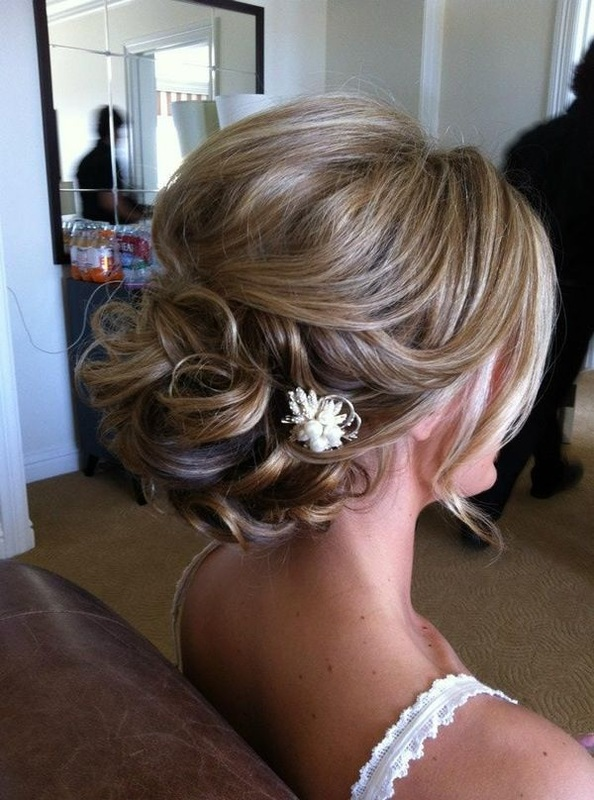 bridal up-do in curls