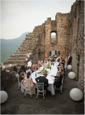 upscale European wedding reception