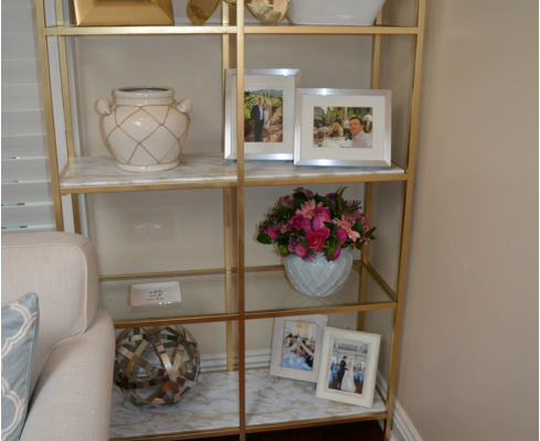 DIY GOLD SHELVES