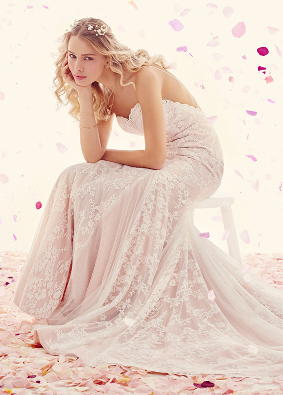 bride in Ti Adora lace wedding dress