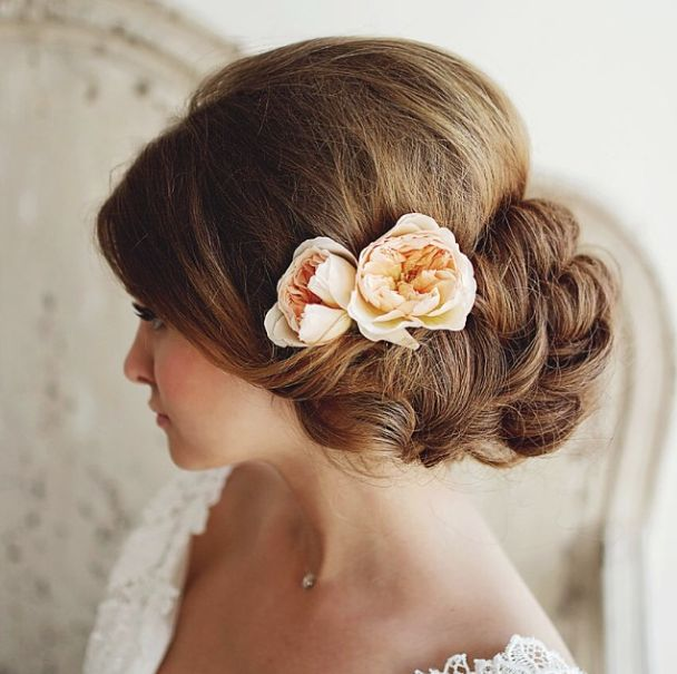 low up-do in curls