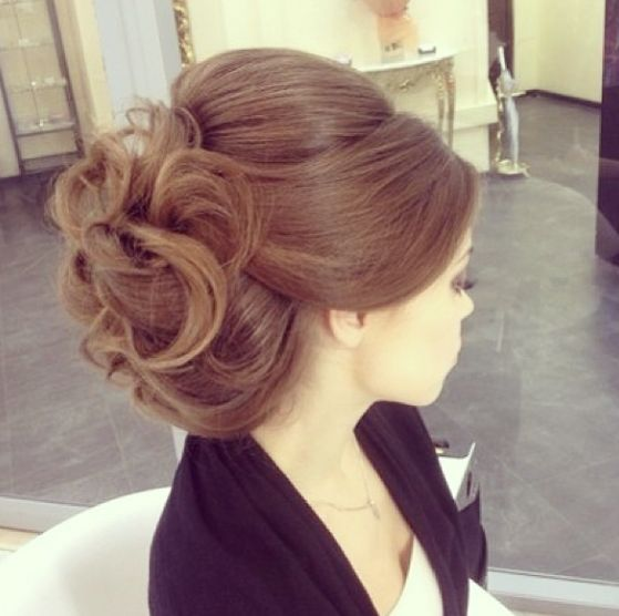 up-do in curls