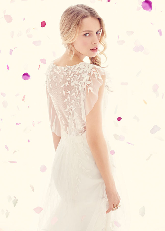 Ti Adora wedding dress with sheer illusion back