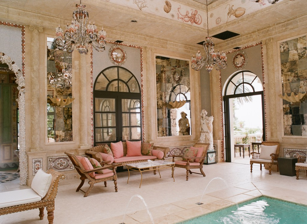 opulent indoor pool room