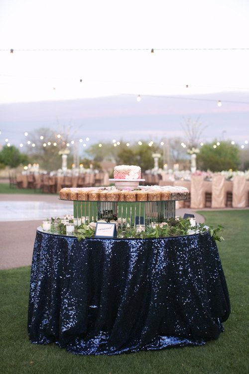navy sequin wedding linens