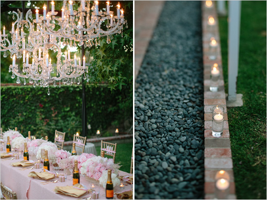 glamorous backyard surprise bridal shower it girl weddings